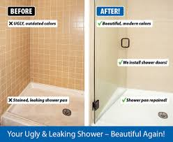 leaking shower door bathtub refinishing shower tiles surface refinishing