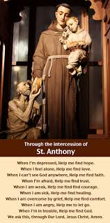 a prayer through the intercession of anthony i ve prayed
