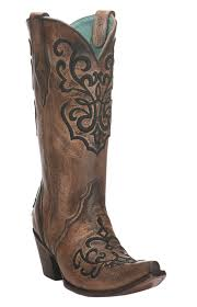 womens corral boots size 11 corral s distressed brown and bronze with black embroidery