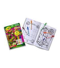 crayola coloring activity pad markers teenage mutant ninja