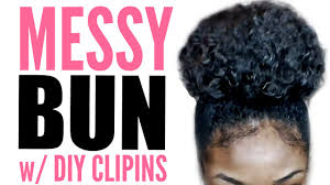 bun clip high bun tutorial for hair w diy clip ins