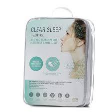 clear sleep bamboo jersey waterproof mattress protector