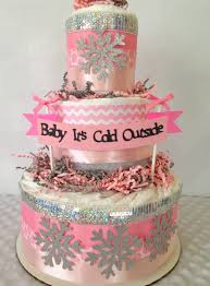 Diaper Cake Centerpieces by Baby It U0027s Cold Outside Baby Shower Diaper Cake Centerpiece