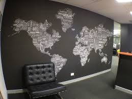 Black And White Wall Decor by Worldtextmap White Black Installed In Office Fabrics Textiles