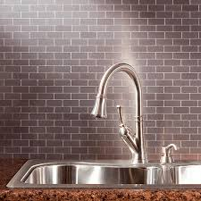 kitchen winsome stainless steel backsplash tiles polished brushed