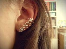 ear cuffs for pierced ears swirled wire ear cuff wire ear cuffs tutorial and