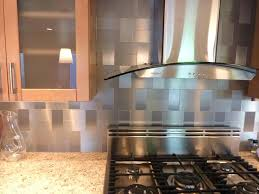 Kitchens With Stainless Steel Backsplash Stainless Steel Backsplash Tiles Metal Tiles For Kitchens