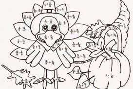 thanksgiving math coloring worksheets addition with regrouping