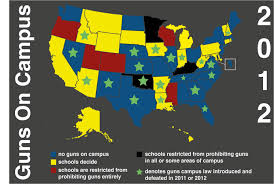 Constitutional Carry States Map Keep Guns Off Campus New Yorkers Against Gun Violence Education Fund