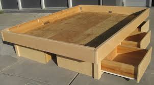 Making A Platform Bed by How To Build A Platform Bed With Storage Drawers Plans The Best
