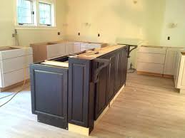 build a bar from stock cabinets building kitchen island bar breakfast islnd cbinets ing diy base
