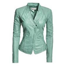 danier leather outlet danier women aqua blue leather fitted jackets hourglass what