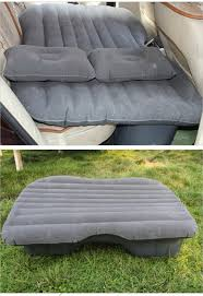 Sofa Bed Air by Car Travel Inflatable Air Bed Mattress Outdoor Sofa Beige