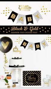 Elegant Baby Shower by Black And Gold Baby Shower Decorations Black And White Baby
