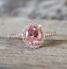 pink sapphires rings images On hold 1 70 cts peach pink sapphire diamond halo ring in 14k jpg