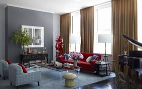 Gold And Blue Curtains Bold Colors With The Deep Cranberry Sofa Gold Curtains And A