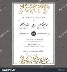 Wedding Invitation Card Templates Wedding Invitation Card Template Golden Color Stock Vector
