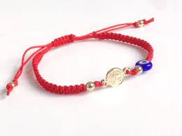 red bracelet with eye images St benedict bracelet san benito medal bracelet protection jpg