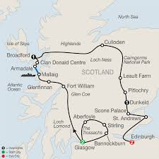 St Andrews State Park Map by Globus Tours Bonnie Scotland 2016