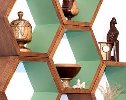 honeycomb shelving hexagon shelves wood shelf modern