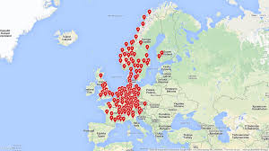 Current Map Of Europe Tesla Supercharger Europe Map Thefreebiedepot