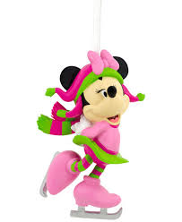 hallmark resin figural minnie mouse skating ornament
