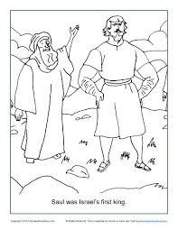 saul israel u0027s king coloring children u0027s bible