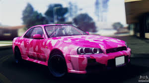 nissan skyline drift car nissan skyline r34 camo drift for gta san andreas