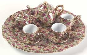 country roses tea set royal albert country roses chintz collection at replacements ltd