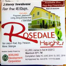 rosedale heights affordable house and lot sale in malvar batangas