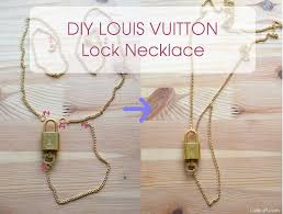 long chain key necklace images Easy diy louis vuitton lock necklace lollipuff jpg