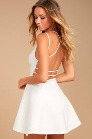 white dresses white dress lwd backless dress backless skater dress