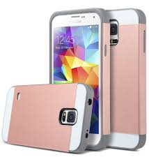 Galaxy Rugged Rose Gold Shockproof Rugged Hybrid Hard Cover Case For Samsung