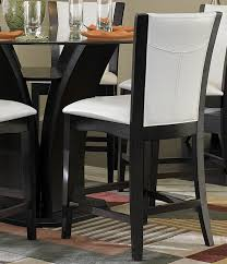 Round Glass Dining Room Table Sets Carre 7pcs Round Glass Counter Height Dining Room Table U0026 Chairs