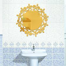 funlife 3d three dimensional wall stickers bathroom mirror