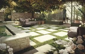 pas japonais en pierre naturelle pieds nus au jardin extérieurs design