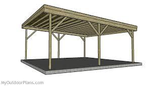 How To Build A 2 Car Garage Building A Double Carport Plans How To Build A Carport