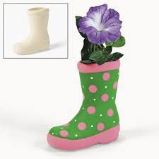 amazon com design your own ceramic boot planters crafts for