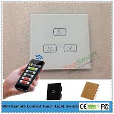 Touch Light Control 4 Gang Smart Phone App Wifi Remote Control Touch Light Switch