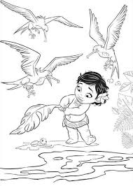 moana coloring pages getcoloringpages