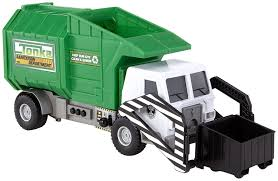 bruder garbage truck amazon com tonka mighty motorized garbage ffp truck toys u0026 games