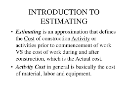 Rom Estimate Template by Introduction To Estimating For Construction Msi Ms 1632 Wireless