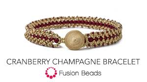 learn how to make the cranberry champagne bracelet by fusion beads