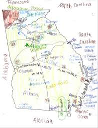 State Of Georgia Map by Derrick Brown August 2015