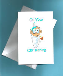 Christening Card Invitations Christening Card Congratulations On Your Christening Funny
