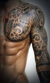 tribal chest tattoos for polynesian tattoos