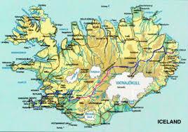 Iceland On World Map by Iceland On Mtb U002797