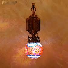 Art Glass Sconces Colorful Bohemia Art Glass Wall Sconces