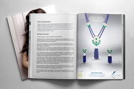 magazine layout graphic design kiranjewels kirangems brijdesignstudio jewelleryad jewellery