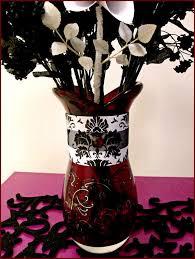black white u0026 red wedding centerpiece a table centerpiec